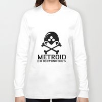 metroid Long Sleeve T-shirts featuring Metroid Exterminators by SlapJacktheMonkey