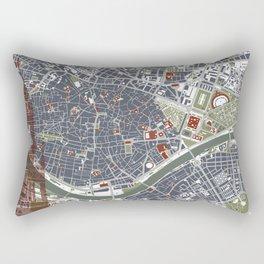 Seville city map engraving Rectangular Pillow