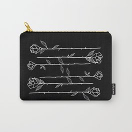 Roses Black Carry-All Pouch