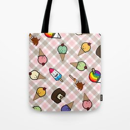 Neapolitan Gingham Frosty Treats Tote Bag