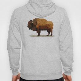American Buffalo (Bison) Watercolor Painting Hoody