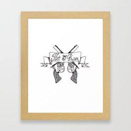 Hit & Run Framed Art Print