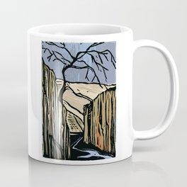 Linocut Canyon Color Coffee Mug