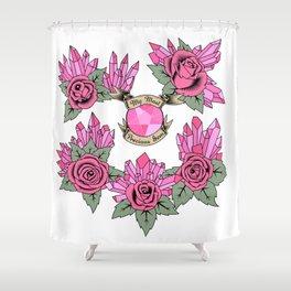 Rose Quartz Tattoo Version 4 Shower Curtain