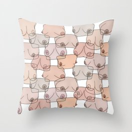 Boobylicious Throw Pillow