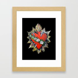 Sacred Heart Sagrado Corazon Framed Art Print