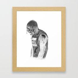 Dean Ambrose - Zombie Framed Art Print