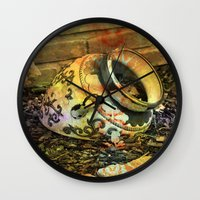 cracked Wall Clocks featuring Cracked by BeachStudio