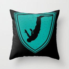 Bungee Jumping Adrenaline Kick Throw Pillow