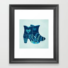 These boots are made for walking Framed Art Print