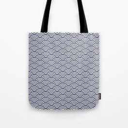 Japanese Koinobori fish scale Delft Blue Tote Bag