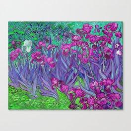 Vincent Van Gogh Irises Painting Violet Fuchsia Palette Canvas Print