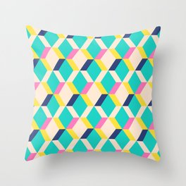 Retro GeoAbstract Throw Pillow
