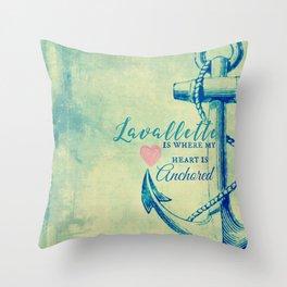 Lavallette, NJ Anchor Throw Pillow