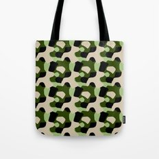 Green Camo Pattern Tote Bag