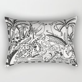 It's a jungle Rectangular Pillow