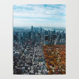 Central Park New York City Skyline Poster