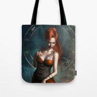 zodiac Tote Bags featuring Zodiac Scorpio by Britta Glodde