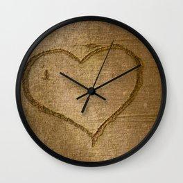 brown' s heart Wall Clock