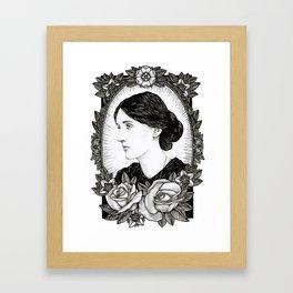 Virginia Woolf Framed Art Print