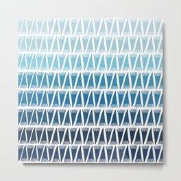 Tee Pee Blue Gradient Metal Print