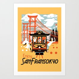 Enjoy San Fransokyo Art Print