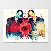 quentin tarantino Canvas Prints featuring Tarantino (Quentin Tarantino) by Art By MOP$