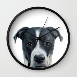 Rescue Dog series, Dice by miart Wall Clock