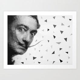 Dali triangles Art Print