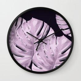 Monstera_Le_4 Wall Clock