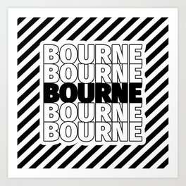 Bourne USA CITY Funny Gifts Art Print