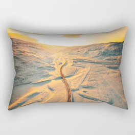 iceland road aerial view Rectangular Pillow