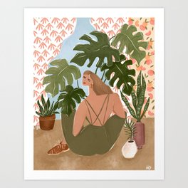 Bringing the outside in Art Print