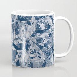 Custom Modern Abstract Blue Crinkle Pattern Coffee Mug