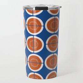 Melons on blue - seamless pattern Travel Mug