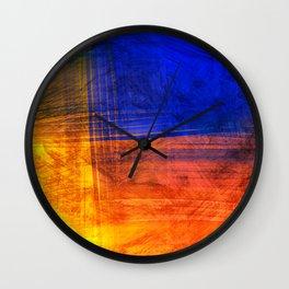 Red Blue Scratch Wall Clock