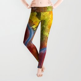 I Dance Boundless Through Space and Time Leggings