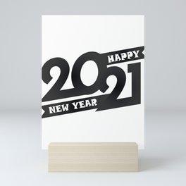 Happy New Year 2021 T-Shirt, Christmas Shirt, Happy New Year Shirt, Holiday shirt, New 2021 T-shirt Mini Art Print