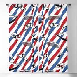 Barber Shop Pattern Blackout Curtain