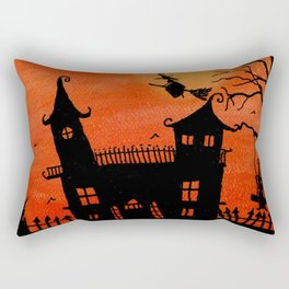 Haunted House Witch Play Rectangular Pillow