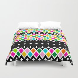 DIAMOND - Black Duvet Cover
