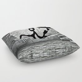 Overview Banksy-style Grafitti Floor Pillow