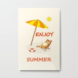 enjoy sunny summer Metal Print