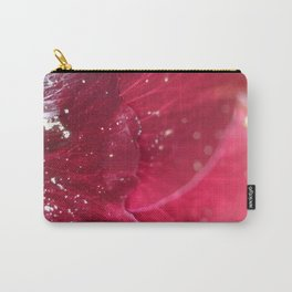 Wine red Alcea rosea 3 Carry-All Pouch