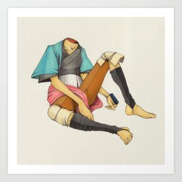 When I Was Little, My Father Was Famous. (No type) Art Print