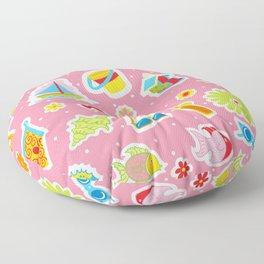 Summer Fun Pink Floor Pillow