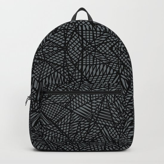Ab Lace Black and Grey Backpack