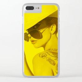 Celebriry (Florescent Color Technique) Clear iPhone Case