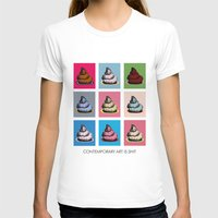contemporary T-shirts featuring Contemporary art by Misha Libertee