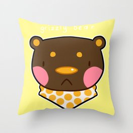 Grizzly B Throw Pillow